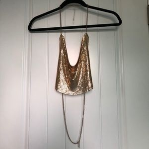 Gold Chain Top